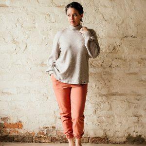 linen cuff pants